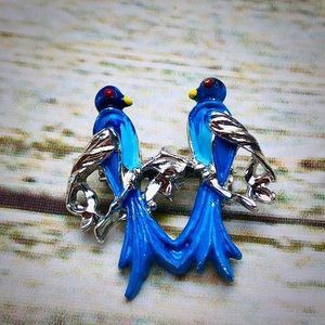 Vintage Magpie Bird Pin Signed Gerry